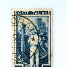 Sellos: SELLO POSTAL ITALIA 1950, 15 LIRA,CONSTRUCTORES NAVALES Y CASTILLO DE RAPALLO (LIGURIA), USADO. Lote 249284190