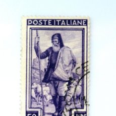 Sellos: SELLO POSTAL ITALIA 1950, 50 LIRA,PASTOR, ATALAYA (CERDEÑA) OCUPACIONES REGIONALES, USADO. Lote 249285170