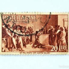 Sellos: SELLO POSTAL ITALIA 1946, 20 LIRA, JURAMENTO DE PONTIDA, ADVENIMIENTO DE LA REPÚBLICA EN ITALIA. Lote 249309010