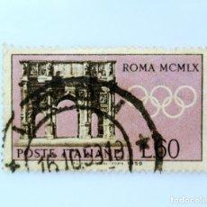 Sellos: SELLO POSTAL ITALIA 1959, 60 LIRA, ARCO DE CONSTANTINO, PREOLÍMPICO OLIMPIADAS ROMA 1960. Lote 249320945
