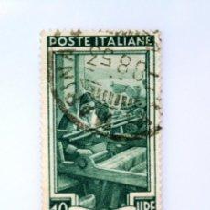 Sellos: SELLO POSTAL ITALIA 1950, 10 LIRA, TEJEDORA COSTA CERCA DE BAGNARA (CALABRIA) OCUPACIONES REGIONALES. Lote 249496715