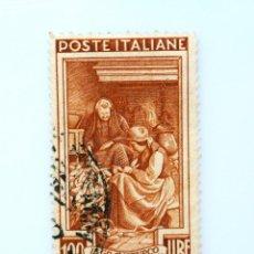 Sellos: SELLO POSTAL ITALIA 1950, 100 LIRA, COSECHA DE MAÍZ (FRIULI VENEZIA GIULIA), OFICIOS REGIONALES. Lote 250240240