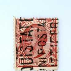 Sellos: SELLO POSTAL ITALIA 1906, 10 CENT, REY VICTOR EMMANUEL III, TYPE LEONI, USADO. Lote 251064810
