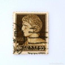 Sellos: SELLO POSTAL ITALIA 1929, 10 CENT, EFIGIE DE AUGUSTO EL GRANDE, SERIE IMPERIAL , USADO. Lote 251067145
