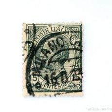 Sellos: SELLO POSTAL ITALIA 1919, 15 CENT, EFIGIE DE VITTORIO EMANUELE III A LA IZQUIERDA, TYPE LEONI, USADO. Lote 251079075