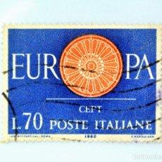 Sellos: SELLO POSTAL ITALIA 1960, 70 LIRA, EUROPA C.E.P.T. , CEPT , CONMEMORATIVO, USADO. Lote 251528885