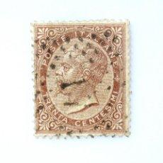 Sellos: SELLO POSTAL ITALIA 1863, 30 CENT, EL REY VICTOR EMMANUEL II EN ÓVALO, EMISSION DE LA RUE, USADO. Lote 251529995