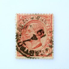 Sellos: SELLO POSTAL ITALIA 1906, 10 CENT, REY VICTOR EMMANUEL III , TYPE LEONI, USADO. Lote 251584030