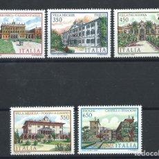 """Sellos: ITALIE N°1722/26** (MNH) 1986 - PATRIMOINE """"VILLAS D'ITALIE"""". Lote 254478875"""