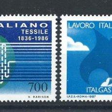 Sellos: ITALIE N°1735/36** (MNH) 1986 - RÉALISATIONS ITALIENNES DANS LE MONDE. Lote 254481090