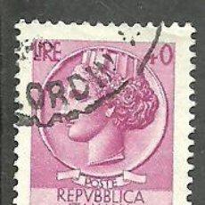 Sellos: ITALIA 1955 - YVERT NRO. 717A - USADO. Lote 254631625