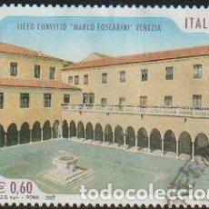 Sellos: ITALIA 2007 SCOTT 2829 SELLO º ESCUELAS Y UNIVERSIDADES LICEO CONVITTO MARCO FOSCARINI VENEZIA M3196. Lote 254715775