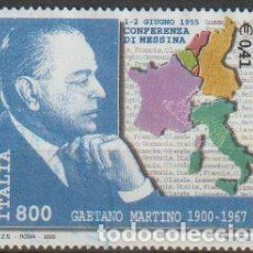 Sellos: ITALIA 2000 SCOTT 2378 SELLO º PERSONAJES RETRATO GAETANO MARTINO (1900-67) CONFERENCIA DE MESSINA. Lote 254716235