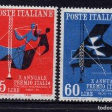 Sellos: ITALIA 776/77** - AÑO 1958 - 10º ANIVERSARIO DEL PREMIO INTERNACIONAL RADIO TV ITALIA. Lote 257870550