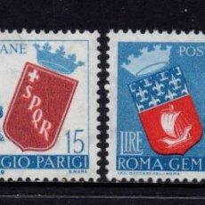Sellos: ITALIA 783/84** - AÑO 1959 - HERMANDAD PARIS - ROMA. Lote 257871840