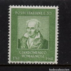 Sellos: ITALIA 860** - AÑO 1961 - BICENTENARIO DEL NACIMIENTO DEL FILOSOFO GIANDOMENICO DOMAGNOSI. Lote 257872670
