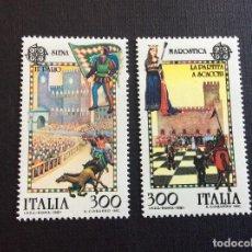 Sellos: ITALIA Nº YVERT 1480/1*** AÑO 1981. EUROPA. FOLKLORE. Lote 260434685