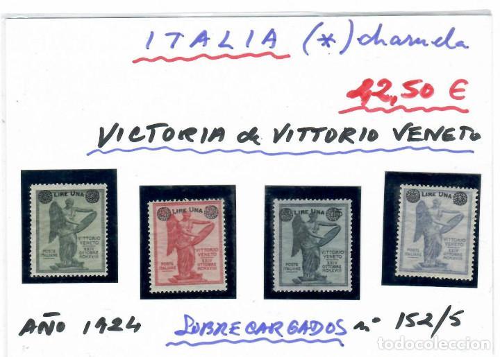 SERLLOS DE ITALIA POR LA VICTORIA DE VITTORIO VENETO AÑO 1924 SOBRECARGADOS (Sellos - Extranjero - Europa - Italia)