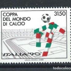"Sellos: ITALIE N°1782** (MNH) 1988 - COUPE DU MONDE DE FOOTBALL ""ITALIA'90"". Lote 263224265"
