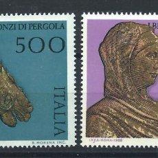 Sellos: ITALIE N°1784/85** (MNH) 1988 - BRONZES DE PERGOLA. Lote 263226000