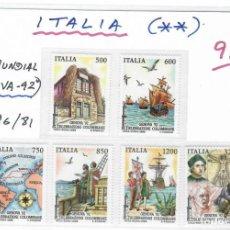 Sellos: SERIE DE SELLOS DE ITALIA EXPO. GENOVA 92. Lote 263673790