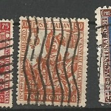 Sellos: ITALIA - 1928 - TORINO - REY FILIBERTO - 3 VALORES USADOS. Lote 266591453