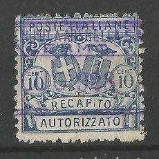 Sellos: ITALIA - 1928 - REGNO RECAPITTO - SOBRECARGA - NUEVO. Lote 266658228