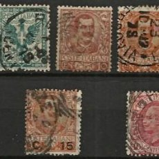 Sellos: ITALIA 1901 - VICTOR MANUEL III - SERIE COMPLETA - 12 VALORES USADOS. Lote 267125609