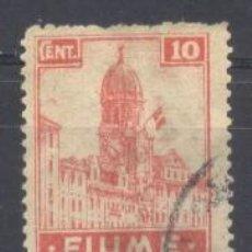 Sellos: FIUME, ITALIA 1919, YVERT TELLIER 35, USADO, CHARNELA. Lote 269165413