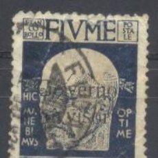 Sellos: FIUME, ITALIA 1920, YVERT TELLIER 100, USADO, CHARNELA. Lote 269165863