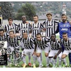 Sellos: ITALIA 2014 - CAMPIONATO ITALIANO DI CALCIO DI SERIE A 2014 - JUVENTUS CARTE MAXIMUM. Lote 270086748
