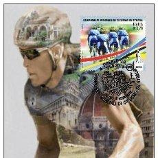 Sellos: ITALIA 2013 - U.C.I CHAMPIONSHIP WORLD IN ROUTE 2013 MAXICARD. Lote 270087498