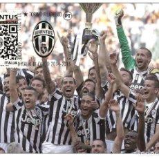Sellos: ITALIA 2015 - JUVENTUS F.C. CAMPIONE DI CALCIO 2014-15 CARTE MAXIMUM. Lote 270088968