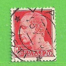 Sellos: ITALIA - MICHEL 671Z - YVERT 471 - EFIGIE DE JULIO CESAR. (1945).. Lote 270542998