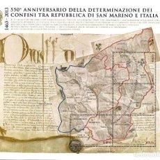 Sellos: ITALIA 2014 - 550 ANNIV. DEFINIZIONE DEI CONFINI DELLA REPUBBLICA DI SAN MARINO. Lote 270663473