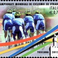 Sellos: ITALIA 2013 - CAMPIONATI MONDIALI DI CICLISMO SU STRADA. Lote 270663483