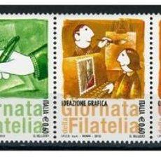 Sellos: ITALIA 2012 - GIORNATA DELLA FILATELIA SET MNH. Lote 270663608