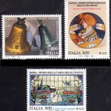 Sellos: ITALIA 1999 - TESOROS DE MUSEOS ITALIANOS - YVERT Nº 2357/2359**. Lote 271030618