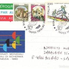 Sellos: CORREO AEREO: ITALIA 1996. Lote 277132043