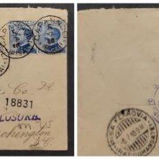 Sellos: O) 1910 ITALIA, VICTOR EMMANUEL III, SCT 100 25C AZUL, CAPANNOLI REGISTRADO, RECOMENDADO, CUBIERTA S. Lote 277288533