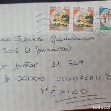Sellos: O) 1982 ITALIA, ARAGONESE, ISCHIA, CASTILLO DE ROCCA DI URBISAGLIA, CUBIERTA CIRCULADA A MÉXICO. Lote 277306193
