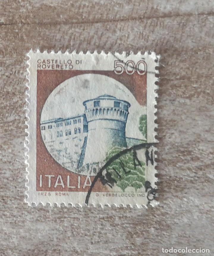 SELLO USADOS POSTAL ITALIA CASTILLOS (Sellos - Extranjero - Europa - Italia)