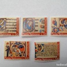Sellos: SELLOS VATICANO,1972,SERIE COMPLETA 5 UNID. NUEVOS **,. Lote 286925518