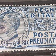Sellos: PNEUMATICA TIPO LEONI - POSTA PNEUMATICA - 1913/1923 CON GOMMA INTEGRA. Lote 287581238