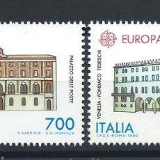 """Sellos: ITALIE N°1882/83** (MNH) 1990 - EUROPA """"ÉDIFICES POSTAUX"""". Lote 287816228"""
