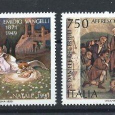 "Sellos: ITALIE N°1893/94** (MNH) 1990 - NOËL ""LA NATIVITÉ"" TABLEAUX. Lote 287817228"