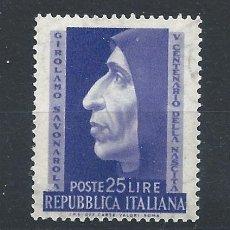 "Sellos: ITALIE N°634** (MNH) 1952 - MOINE DOMINICAIN ""SAVONAROLE"". Lote 287834888"