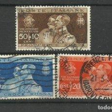Sellos: ITALIA - USADO - 1930 - SERIE COMPLETA. Lote 288072553