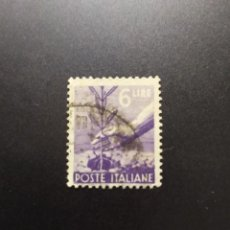 Sellos: ## ITALIA USADO 1945 DEMOCRATICO 6 LIRAS##. Lote 288099153