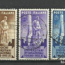 Sellos: ITALIA - - -1933 - SERIE INCOMPLETA- USADO. Lote 288124018